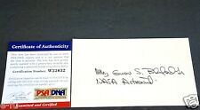 GUION BLUFORD Signed 3x5 Rare NASA Astronaut Inscription Autograph PSA/DNA COA