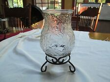 Princess House Fantasia Crystal Pillar Candle Holder W/Wrought Iron Stand