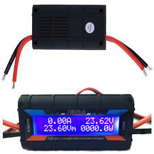 RC 150A DC Watt Meter Amperemeter Power Analyzer with Backlight LCD 0-60V