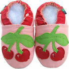 shoeszoo new soft sole leather baby shoes cherry pink 6-12m S