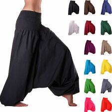 Indian Black Harem Gypsy Hippie Ali Baba Baggy Pants Trousers Boho Yoga Casual