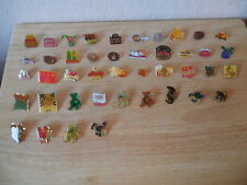 43 Vintage McDonald, Ty Beanie Babies, and various Pins