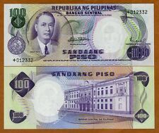 Philippines, 100 Piso (ND) 1969, Pick 147 (147br), Star Note, UNC   Replacement