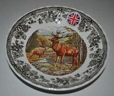 NEW QUEEN'S Quintessential Game STAG SOUP PLATE  England DEERs Wildlife