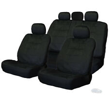 FOR NISSAN NEW SEMI CUSTOM BLACK VELOUR CAR SEAT COVERS SET