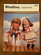 Vintage Studley DK Knitting Pattern 424 Doll & Clothing (502)