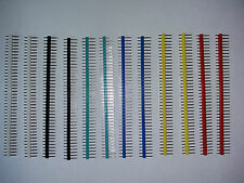 12x40 Pin macho de una sola fila Pin Headers Varios Colores Tira 2.54mm Pitch