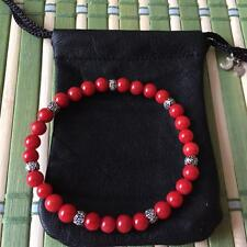 Chrome Arts MSM by JH Hearts Bracelets Red Coral with Sterling Silver925