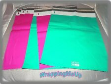 50 HOT PINK and TEAL  9x12 Flat Poly Mailer Envelopes, Self Seal USPS Shipping
