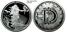 1 OZ SILVER COIN PROOF ENEMY UNKNOWN-DECENTRALIZED BITCOIN # ORIGINAL SBSS