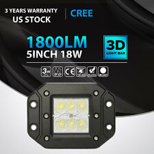 5INCH 18W CREE LED Fog Light Lamp Flush Mount Fit For Ford Raptor Toyota Tundra