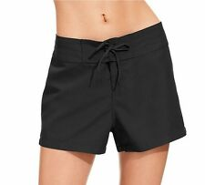 Island Escape Black Lace Up  Swimsuit Cover Up Board Shorts 10 NWT NEW