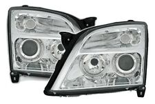 CLEAR ANGEL EYE HEADLIGHTS HEADLAMPS FOR VAUXHALL VECTRA C & SIGNUM