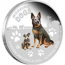 2011 WORKING DOGS CATTLE DOG Silver Proof Coin COA 2745