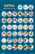 POKEMON - CHARACTER COLLAGE POSTER - 22x34 - LEGENDARY 14865