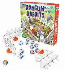 RANGLIN' RABBITS - THE HARE-RACING COOPERATIVE DICE GAME FUN KIDS GAMEWRIGHT