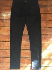 Topshop Moto Skinny Jeans Leigh  Black Sz 4 W24  Fit L28 petite   Defected DT6