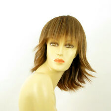 mid length wig for women brown copper wick light blond ref: VANILLE 6bt27b PERUK