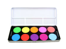 STARGAZER VIVID COLOUR EYE SHADOW PALETTE 10 BRIGHT NEON COLOURS