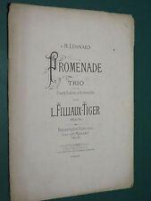 Partition ancienne Piano L. FILLIAUX-TIGER Promenade