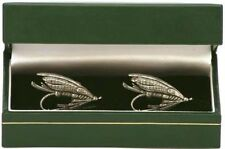 Fly Cufflinks for  salmon and trout fishing NEW PEWTER