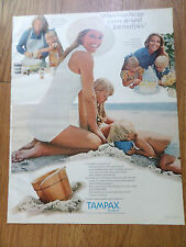1970 Tampax Ad  Housewife Cooking Birthdays at the Beach Themes