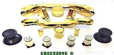 Custom Xbox 360 Controller Bullet Buttons ABXY + Trim & Full Mod Kit Gold Chrome