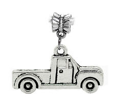 Pickup Truck Car Vehicle Driving Dangle Charm fits Silver European Bead Bracelet