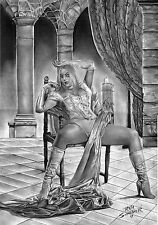 EMMA FROST X-MEN BY artist RAFA SCHNEIDER - ART PINUP Drawing Original