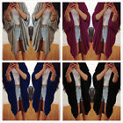 Womens Cardigan Loose Sweater Long Sleeve Knitted Cardigan Outwear Jacket Coat