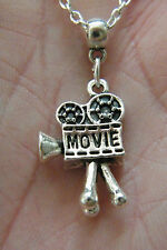 "FILM CAMERA Necklace MOVIE STUDIO Charm Actor Show Business Gift! 18.5"" NEW!"