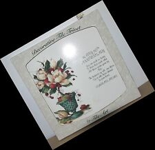 Decorative Tile Trivet Happy 50th Anniversary w/Poem and Art by Barbara Mock NIB