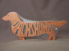 Long Haired Dachshund Dog Amish Wood Toy Puzzle Choice