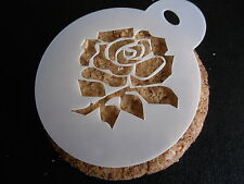 Laser cut small rose design cake, cookie, craft & face painting stencil