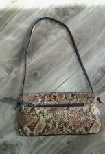 Carlos Falchi by Falchi hand bag purse Embossed Snake boho