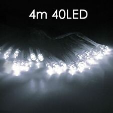 White 40 LED BATTERY  MICRO SILVER WIRE STRING FAIRY PARTY XMAS WEDDING LIGHT