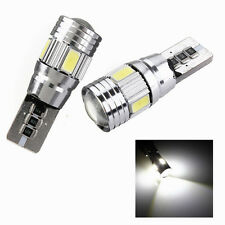 2x T10 194 168 501 W5W 5630 SMD 6 LED HID Feux CANBUS Anti Erreur Blanc Voiture