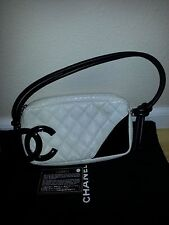 AUTHENTIC CHANEL CAMBON WHITE SNAKESKIN POCHETTE MINT CONDITION