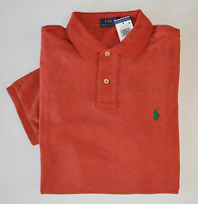 NWT Men's Ralph Lauren Short-Sleeve Jersey Polo Shirt, Dark Orange, M, Medium