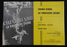 CHINH SIANG LA PANTHERE JAUNE photo scenario film 1960s Karaté KUNG FU