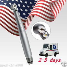 Dental LED optic handpiece 4 holes ceramic bearing Fit Kavo turbine USPS SHIP