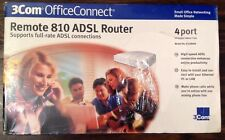 SEALED -3Com OfficeConnect Remote 810 ADSL Router 3C438000  - 4 Port -NEW