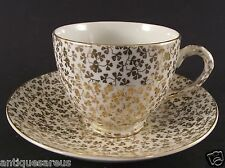 EMPIRE GOLD CLOVER LEAF CABINET TEA CUP AND SAUCER