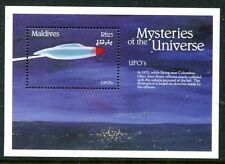 MALDIVES 1992 UFO - FLYING SAUCERS MINT SOUVENIR SHEET!