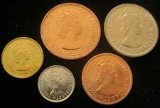 British Caribbean Territories Eastern Group 1965 1 to 50 Cent BU 5 coins #169