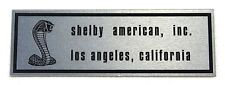 Mustang Scuff Plate Emblem Shelby  1967