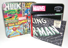 MENS MARVEL COMICS SPIDER MAN SLIMFOLD BIFOLD WALLET WITH METAL GIFT BOX