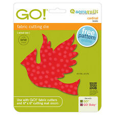 AccuQuilt GO! & Baby Cardinal Fabric Cutting Die 55351 Quilting Applique Sewing