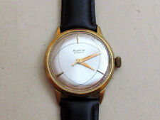 RAKETA ATOM gold plated Au20 USSR vintage men's mechanical wristwatch