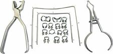 Rubber Dam Starter Kit of 18 Pcs with Frame Punch Clamps Dental Instrument SD1